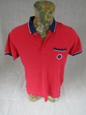 Diesel Mens Polo Top T Shirt Short Sleeve Red Large Gents <<D2>>