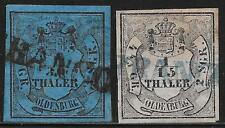 Oldenburg stamps 1852 MI 2-3  CANC  VF