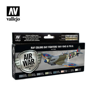 AIRBRUSH PAINTS - VALLEJO MODEL AIR - WWII RAF DAY FIGHTERS (8 x 17ML) - 71162