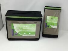 New Eco Sheex 100% Viscose Bamboo King Sheet Set Taupe Matching Pillow Cases