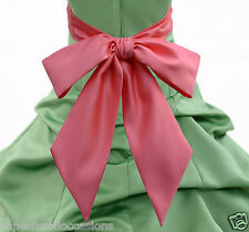 """NEW SATIN SASH 71"""" 75"""" 80"""" ONLY 4 FLOWER GIRL DRESS PAGEANT HOLIDAY MULTI-COLOR"""