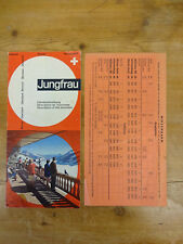 C1968 Advertising Leaflet: Train Excursion to Jungfrau with Timetable