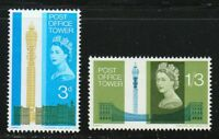 Great Britain 1965 MNH Sc 438-439 Post Office Tower, London