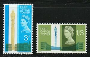 Great Britain 1965 MNH Sc 438-439 Post Office Tower, London **