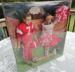 Campus Spirit Barbie Doll and Ken Doll Giftset NRFB Mattel 2008 Set Gold Label