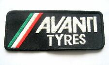 """AVANTI TYRES EMBROIDERED SEW ON ONLY PATCH AUTO ADVERTISING HAT SHIRT 5"""" x 2"""""""