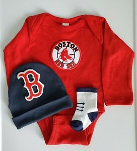 Boston Red Sox baby boy 3 pc outfit Red sox baby/newborn clothes Red sox baby