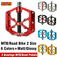 Mzyrh MTB Mountain Road Bike Pedals Cycling Bicycle Flat 3 Bearing Pedals 9/16""
