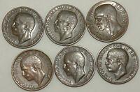 lot de 6 pièces de 10 centimes en Bronze - Italie ( 040 )