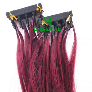 6A 10-30Inch 6D Pre-bonded Remy Human Hair Extensions 20gram 40 Strands 17 color