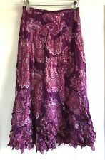 Moschino Cheap And Chic Pink Paisley Maxi Skirt Size IT 40 US 6 Made In Italy