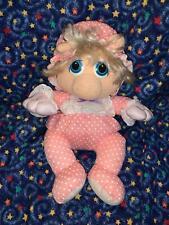 "1985 Muppet Babies Miss Piggy 11"" Plush Stuffed Toy by Hasbro Softies"