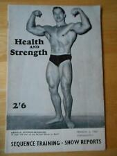 HEALTH and STRENGTH bodybuilding muscle magazine/ARNOLD SCHWARZENEGGER 3-67 (UK)