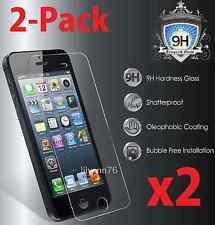2x Premium Real Tempered Glass Screen Protector Guard  for Apple iPhone 5/5S/5C