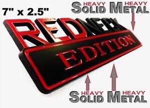 SOLID METAL Redneck Edition BEAUTIFUL EMBLEM Dodge Truck Door Bumper Ornament