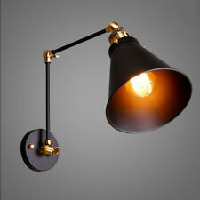 Black Industrial Metal Shade MINI Wall Lamp With Long Swing Arm Lighting Fixture