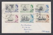 Tristan da Cunha Sc 71-76 on 1966 cover to Beloeil, QC, Canada. QEII & Ships