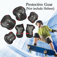 US 6pcs Protective Gear Set Adults Teens Kids Knee Elbow Pads With Wrist Guards