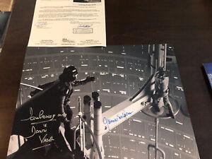 James Earl Jones  & David Prowse Saber Duel Signed STAR WARS 12x16 Photo JSA LOA