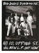 "BIG AUDIO DYNAMITE 10 Upping Street UK magazine ADVERT / mini Poster 11x8"""