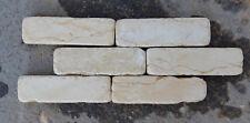 Mattoncini in pietra naturale Marmo Giallo Atlantide 10x3x1 cm FINE SERIE