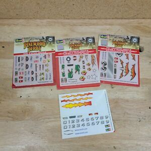 Pinewood Derby Peel & Stick Decals Stickers Revell Lot