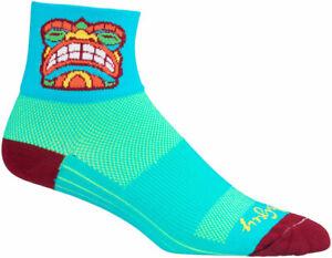 SockGuy Classic Friki Tiki Socks 3 inch Blue Large X-Large Unisex Synthetic