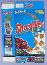 Spiderman Shreddies Cereal Box - Green Goblin Mask,  2003