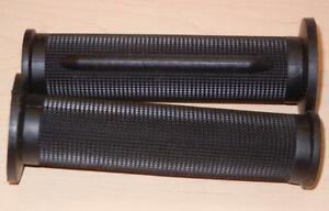 "1970's vintage Tommaselli pair grips fit 7/8"" bars 130mm long BLACK 01617-CFN"