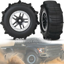 Traxxas Ford Raptor Paddle Tires 5891 Pre-Mounted on Chrome Wheels
