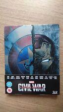 Captain America: Civil War 3D+2D UK PAL Version STEELBOOK Blu-Ray New&Sealed