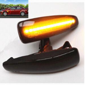 2x Smoke LED Turn Signal Side Marker Light For Mitsubishi Lancer Outlander Sport