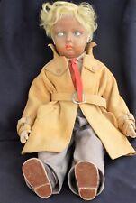 Raro 22 in (approx. 55.88 cm) Antiguo Vintage Muñeca Lenci Boy De Fieltro Original Ropa * Loft encontrar