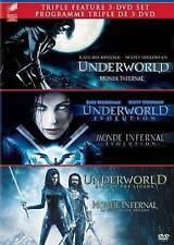 NEW Underworld/Underworld: Evolution/Underworld: Rise Of The Lycans 3-Pack (Blu-