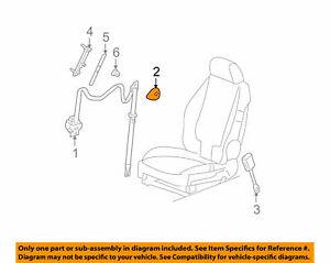 ( 1 ) GENUINE GM 22730276 COVER - Seat Belt Retractor Gray