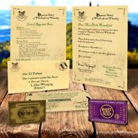 Hogwarts Akzeptanz Brief Geburtstag Geschenk Bundle f�r HARRY POTTER FAN