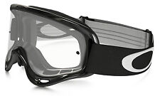 OAKLEY O-FRAME MOTOCROSS ENDURO MX BIKE GOGGLE GLOSS BLACK with CLEAR TINT LENS