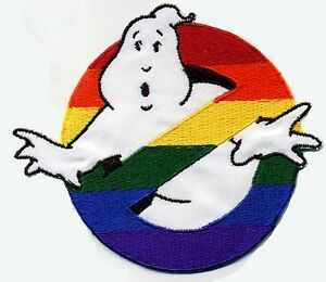Rainbow Embroidered Ghostbusters No Ghost Patch  [iron on]