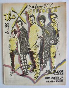 Vintage 1985 The X Rock Music Magazine Frankie Goes To Hollywood Tom Robinson