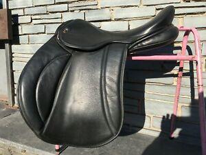 """17 1/2"""" MW Pony, Cob & Horse Saddles GP Saddle - Black"""