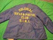 colonial rifle &pistol club staten island new york   jacket size large