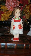 """Very Old Raynal or Lenci 11"""" Girl Doll Wonderful Collectible"""