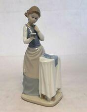 "Rare - Lladro Figurine - Girl Ironing - 4981 - 10"" Tall"