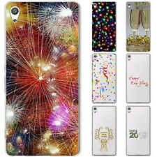 Dessana New Year Eve Silicone Protective Case Case Pouch Cover For sony