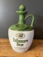 Tullamore Dew Irish Whiskey Decanter Jug Ceramic Liquor Bottle Pub Bar Ware