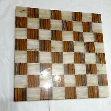 Schönes Schachbrett aus Onyx/Marmor
