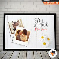 BEAUTIFUL UNIQUE PHOTO GIFT FOR COUPLE ON CHRISTMAS BIRTHDAY ANNIVERSARY LOVE