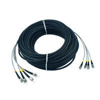 50M Field Outdoor FC ST 9/125 Single Mode SM 4 Strand Fiber Patch Cord DHL Free