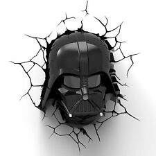 Star Wars Darth Vader masque 3D déco del Lampe Murale Veilleuse Fx Disney