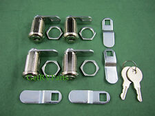 RV Trailer Motorhome Storage 1-1/8 Compartment Door Cam Lock Set Of 4 (18-3319)